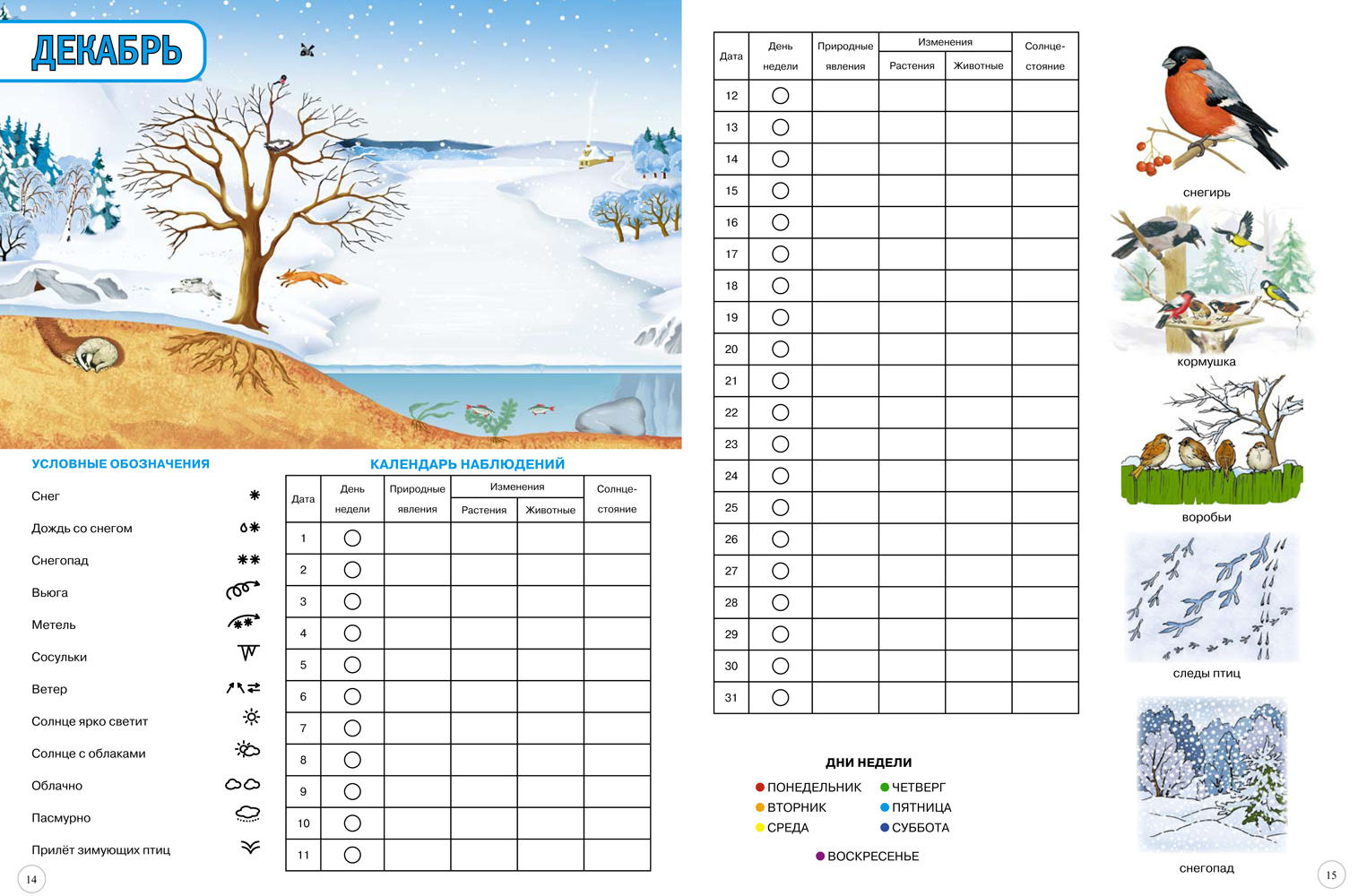 календарь осени в картинках